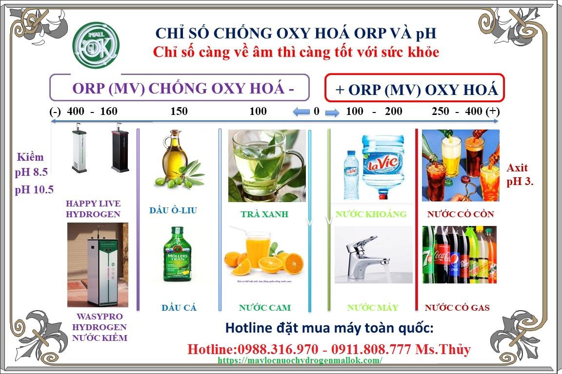 chỉ số chống oxy hóa ORP